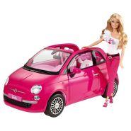 Кукла Барби с розовым автомобилем Fiat, Barbie Y6857 Mattel